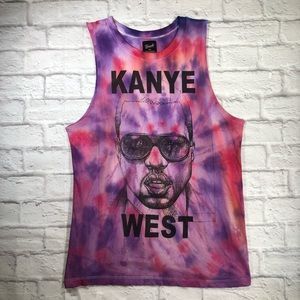 Custom KANYE WEST Concert Merch Tie Dye Tank Top